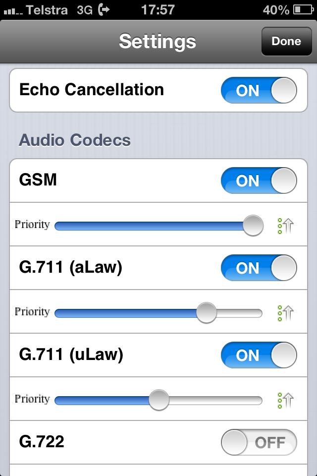 iPhone 3CX setup screen shots