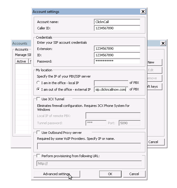 Voip configurations of 3CX, X-lite, Linksys PAP2, Cisco ATA