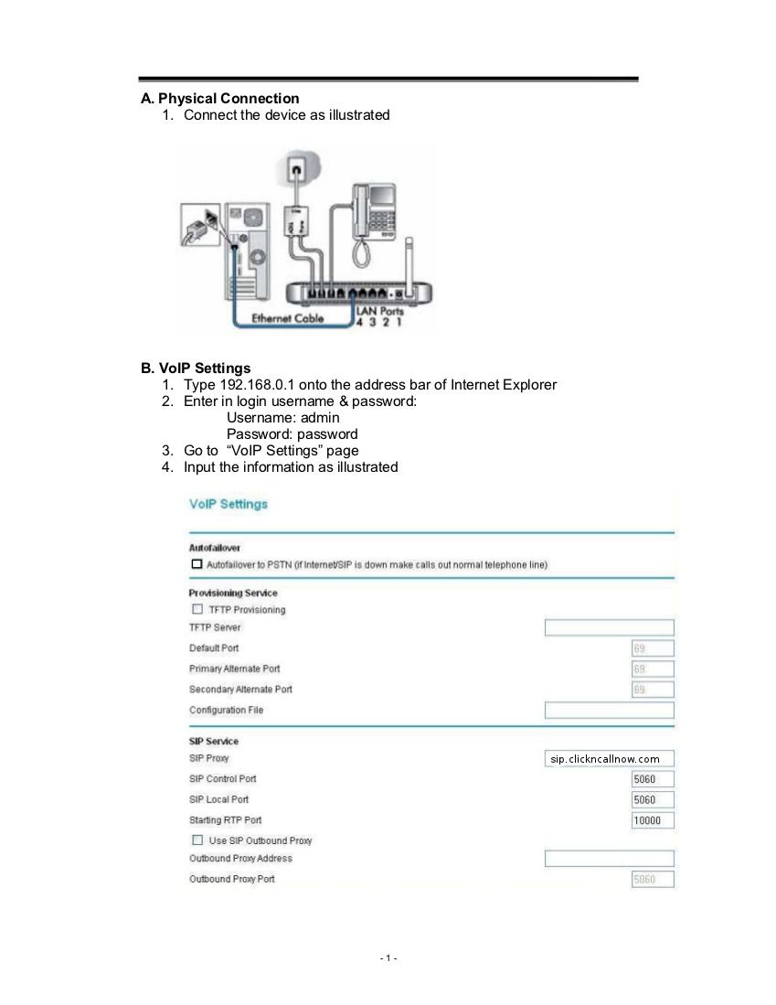 Netgear DG834GV VOIP setup